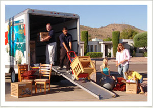 packing truck for moving