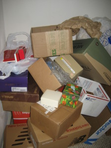 unwanted packing boxes